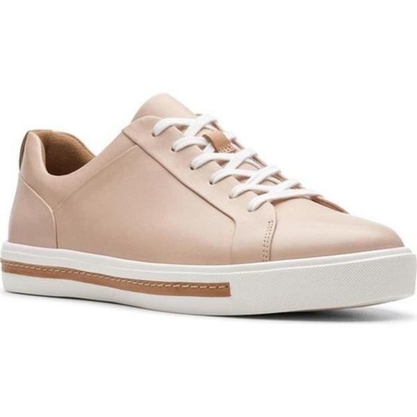 d42d8713 Shop Clarks Women's Un Maui Lace Sneaker Blush Full Grain Leather ...
