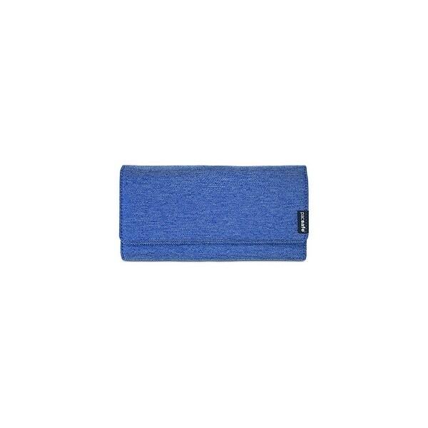 Pacsafe RFIDsafe LX200 - Denim RFID Blocking Clutch Wallet w/ 1 Side Slip Pocket