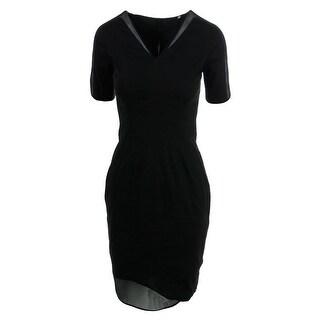 Elie Tahari Womens Jewel Stretch Mesh Inset Casual Dress