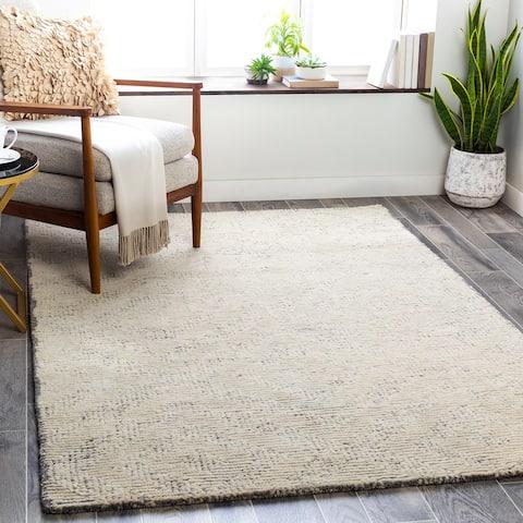 Farina Modern Wool/Viscose Handmade Area Rug