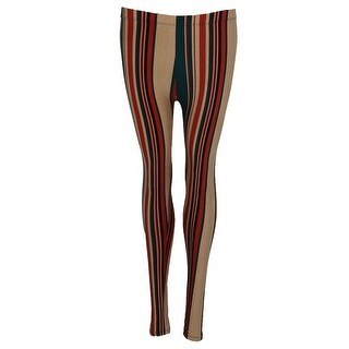 Just One Women's Plus Size Fashion Striped Leggings