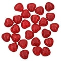 Czech Pressed Glass - Crackle Heart Beads 8.5x7.5mm 'Ruby' (25) - Thumbnail 0