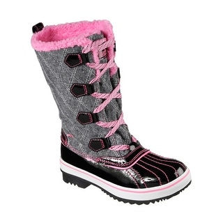 Skechers 88628L BKHP Girl's HIGHLANDERS - QUILT N CUTE Boot