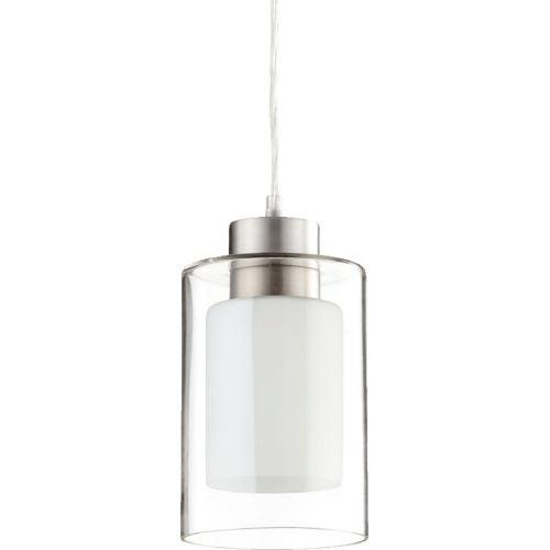 Quorum International Q882 1 Light Mini Pendant with Glass Cylinder Shade