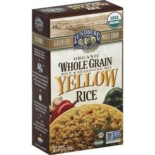 Lundberg Family Farms - Whole Grain Yellow Rice ( 6 - 6 oz bags)