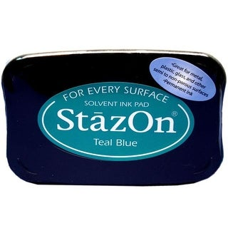 StazOn Solvent Ink Pad Large Teal Blue