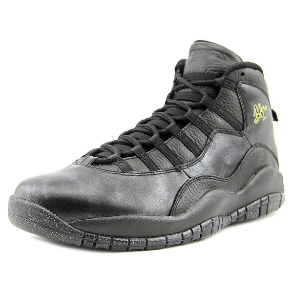 Jordan Air Jordan Retro 10 Men Round Toe Synthetic Black Basketball Shoe