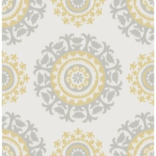 Brewster Suzani Peel and Stick Wallpaper Suzani Wall Pops Wallpaper - N/A
