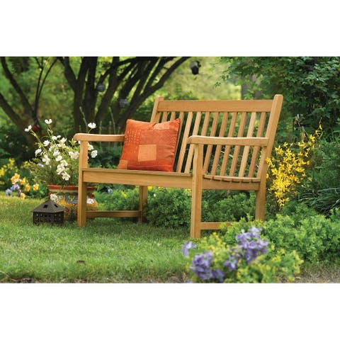 Nirwana 4-foot Natural Teak Bench by Havenside Home