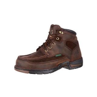 "Georgia Boot Work Mens 6"" Athens Waterproof Moc Toe Lacer Brown G7403"