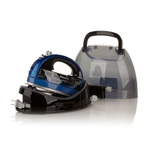 Panasonic 360º Ceramic Cordless Freestyle Iron (Metallic Blue)