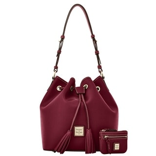 Dooney & Bourke Saffiano Kendall with Small Coin Case (Introduced by Dooney & Bourke at $295 in Sep 2016) - Bordeaux
