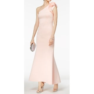 02addd4fd329f Shop Betsy Adam Blush Pink Womens Size 10 Floral-Shoulder Scuba Gown - Free  Shipping Today - Overstock - 27347412