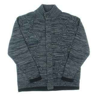 Alex Stevens Mens Button Front Chunky Cardigan Sweater