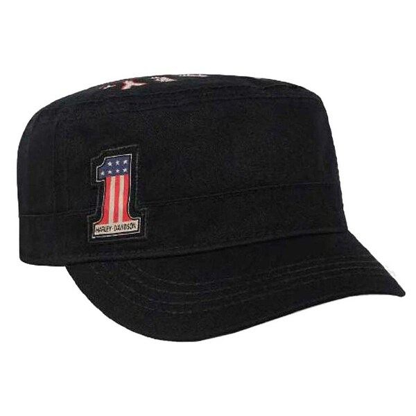 3895a84a Shop Harley-Davidson Women's RWB #1 Wings Adjustable Back Painters Cap,  Black PC33830 - Free Shipping On Orders Over $45 - Overstock - 27280404
