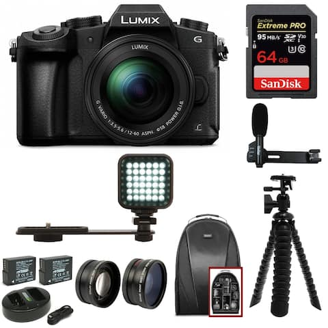 Panasonic LUMIX G85 Mirrorless Camera with 12-60mm Lens & Light Bundle