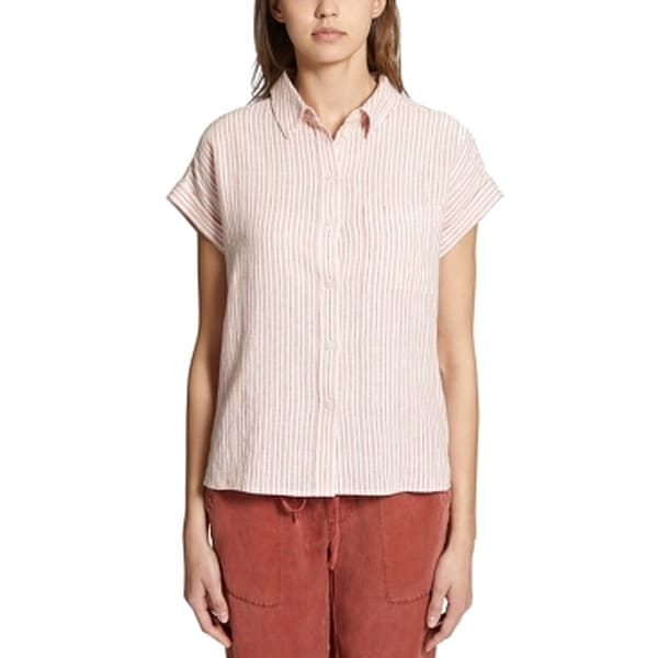e1f6f55b Shop Sanctuary Red Womens Size XL Mod Short Sleeve Button Down Shirt - Free  Shipping On Orders Over $45 - Overstock - 28095583