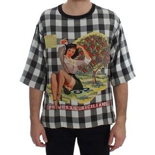 Dolce & Gabbana Dolce & Gabbana Crewneck PRODOTTO SICILIANO Print Silk T-shirt