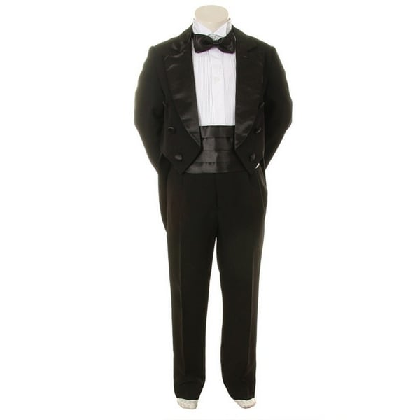 Kids Dream Black Formal 5 pcs Tail Special Occasion Boys Tuxedo 2-5T
