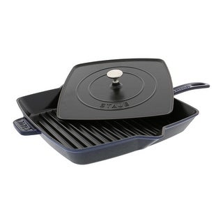 "Staub Cast Iron 12"" Square Grill Pan & Press Set"