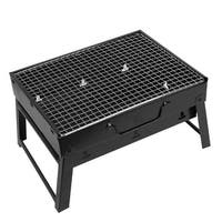 Garden Picnic Foldable Metal Folding Charcoal Barbecue Grill Cooking Tool Black