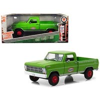 1967 Ford F-100 Pickup Truck Texaco Motor Oil Green Running on Empty Series 1/24 Diecast Model Car by Greenlight