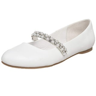 Nina Girls Nataly Leather Slip On Mary Jane Flats