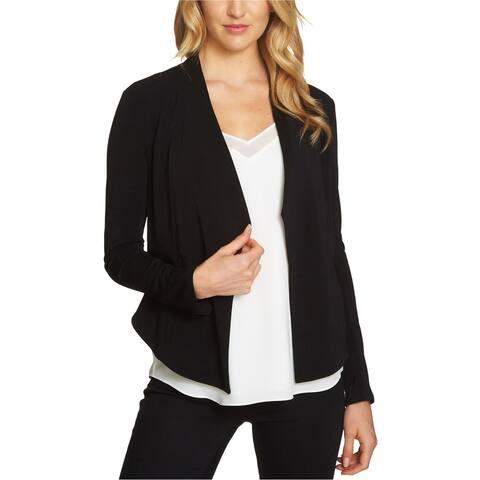 1.STATE Womens Knit Open Front Blazer Jacket, Black, X-Small