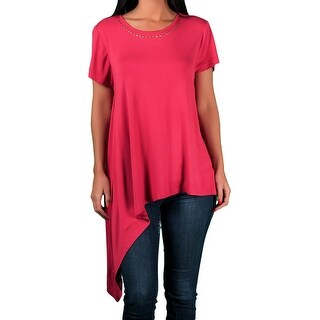 Alex & Parker Ladies Embellished Assymetrical Knit Top