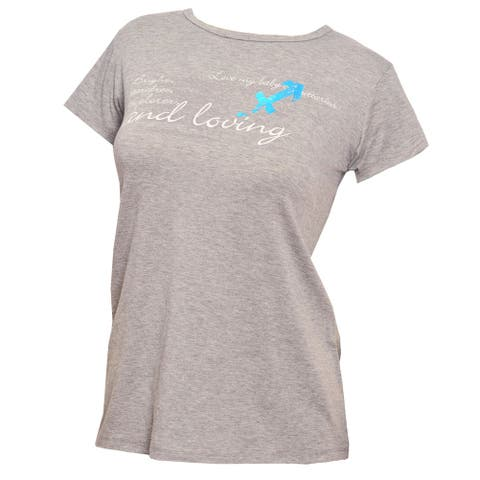 22ed1281cdc50 Love My Belly Women's Gray Sagitarrius Horospcope Print Maternity Top One  Size - One Size