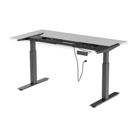 Monoprice Dual Motor Easy Assembly Folding Sit-Stand Desk Frame, Max 265 lbs Weight Capacity - Workstream Collection