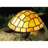 Meyda Tiffany 10271 Stained Glass / Tiffany Specialty Lamp from the Turtle Collection
