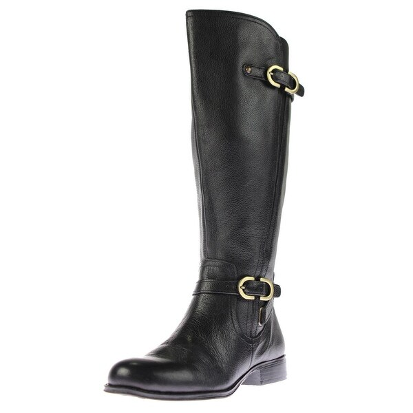 Naturalizer Womens Jennings Riding Boots Wide Calf Leather