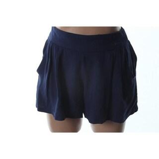 Aqua Womens Textured Double Pleat Casual Shorts - L