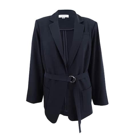 Calvin Klein Women's Plus Size Belted Jacket