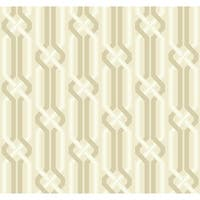 York Wallcoverings EB2018 Candice Olson Vibe Criss Cross Wallpaper - beige/soft gold/white