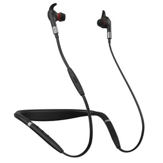 Jabra Evolve75e UC Stereo Bluetooth Headset w/ Active Noise Cancellation On the Earbud