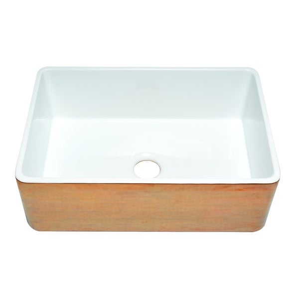 ALFI brand ABHC3020SB Hammered Copper/Fluted 30 inch Reversible Single Fireclay Farmhouse Kitchen Sink - Brown. Opens flyout.