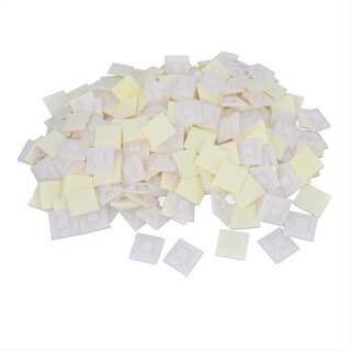Unique Bargains 1000 Pcs White 20mm x 20mm Sticky Cable Tie Wire Bundles Fixed Base Holder
