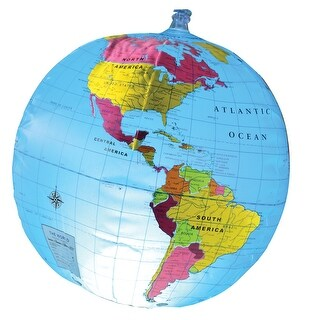 Learning Resources Inflatable Light-Up Globe - Geography Educational Toy for Children - Blue