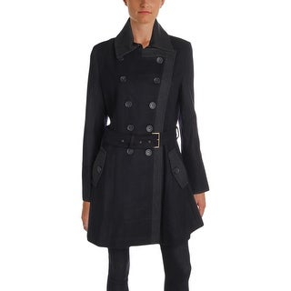 Tommy Hilfiger Womens Military Coat Winter Wool Blend