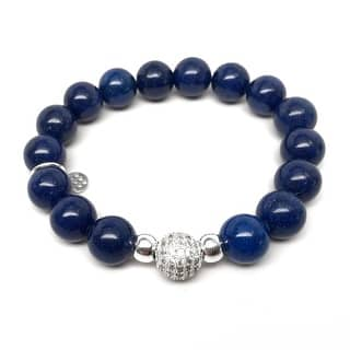 "Blue Jade Radiance 7"" Bracelet