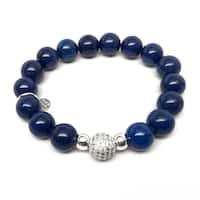 """Blue Jade Radiance 7"""" Bracelet"""