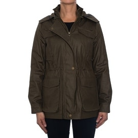 Laundry By Design Cinch Waist Jacket with Zip-Off Hood