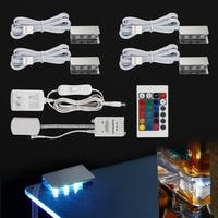 RGB LED Glass Edge Lighting Kit, Glass Cabinet Decorative Lighting