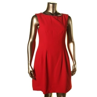 Vince Camuto Womens Embellished Sleeveless Wear to Work Dress