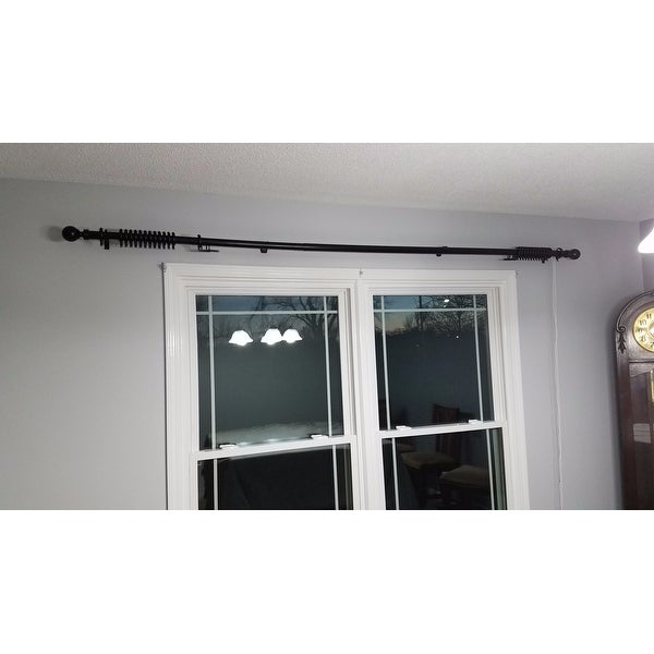 Shop Instyledesign Globe Decorative Traverse Rod With Center Open