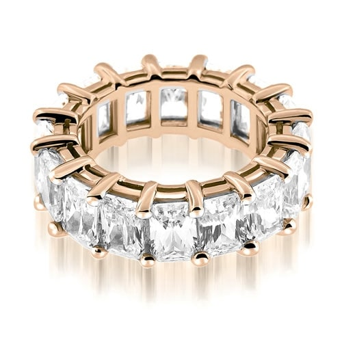 5.50 cttw. 14K Rose Gold Classic Bar Set Emerald Cut Diamond Eternity Ring
