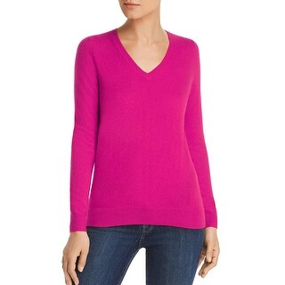 Private Label Womens Cashmere Pullover Ribbed Trim Sweater Shirt BHFO 3323