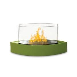 Lexington (High Gloss Green) Table Top Bio Ethanol Ventless Fireplace